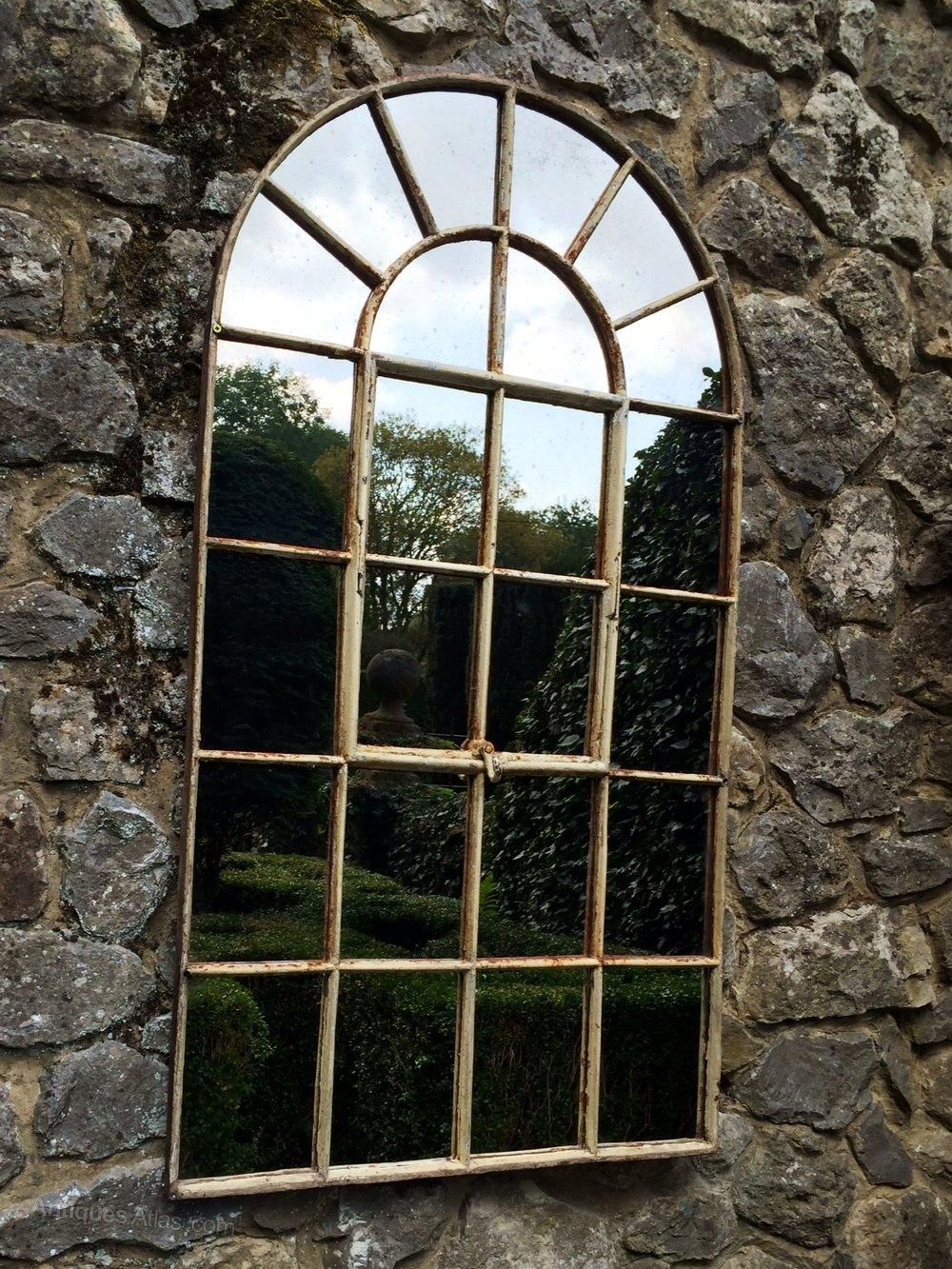 Antiques Atlas – Garden Arch Window Mirror Pertaining To Garden Mirrors For Sale (Image 8 of 20)