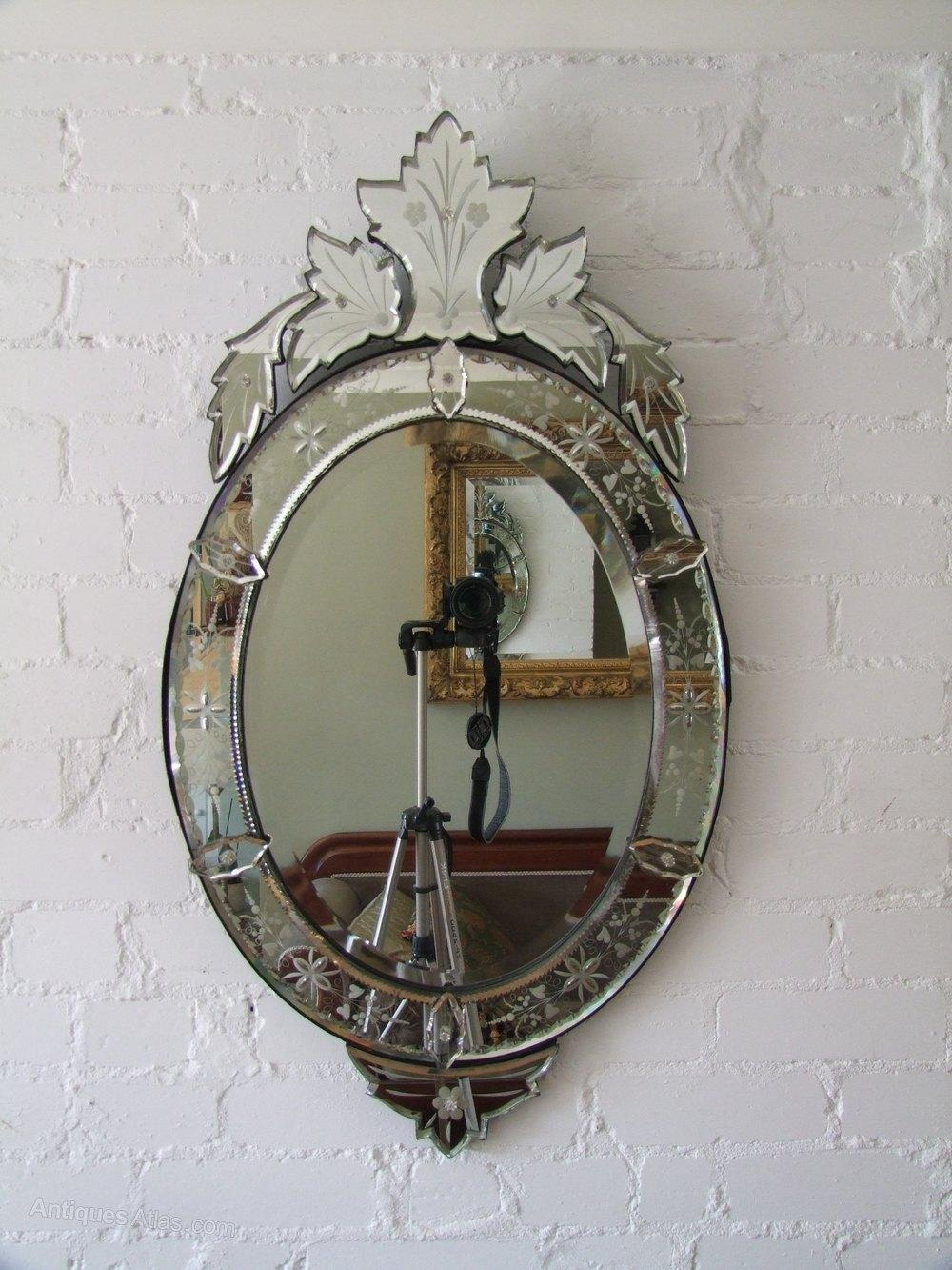 Antiques Atlas – Oval Venetian Mirror With Regard To Venetian Oval Mirror (Image 5 of 20)
