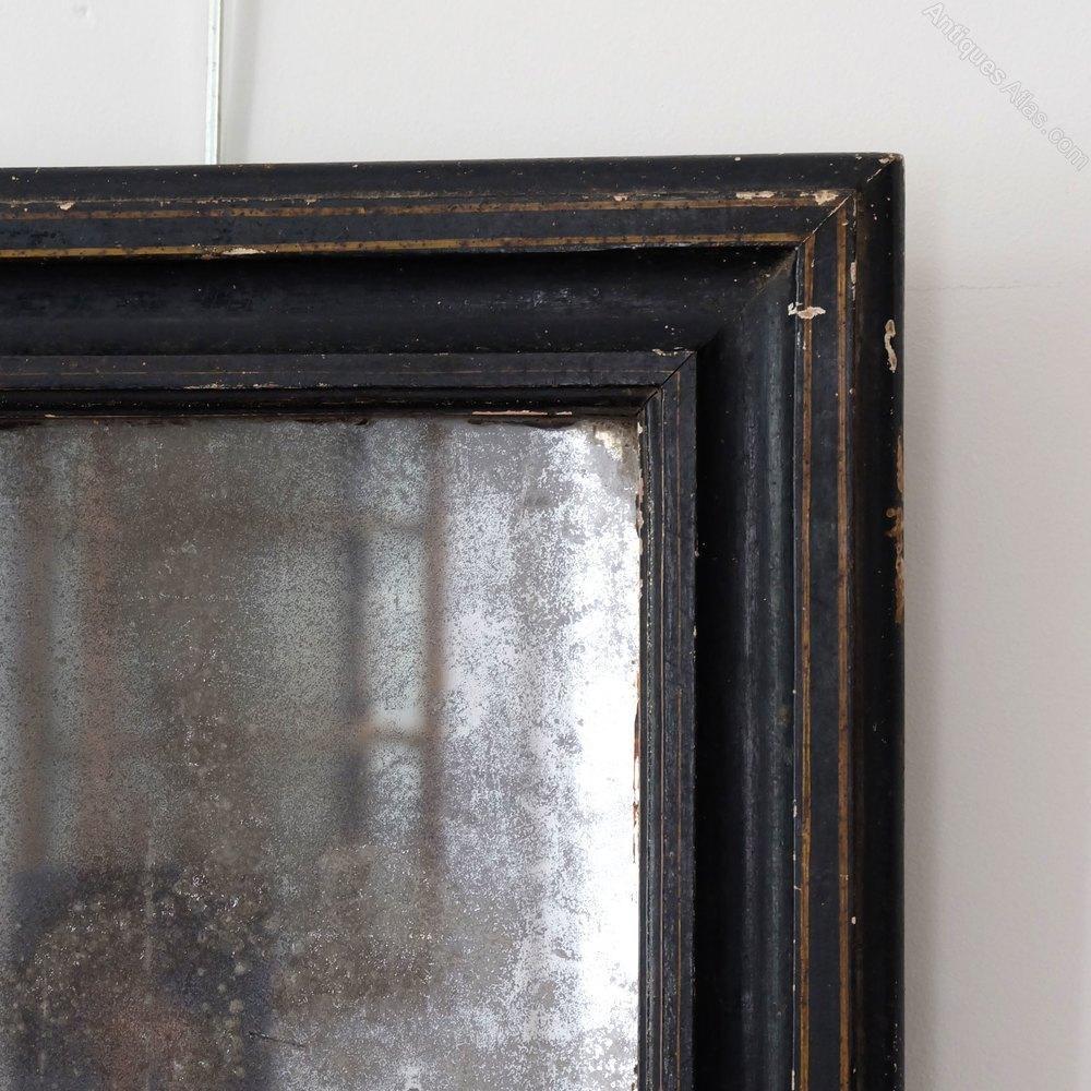Antiques Atlas – Petite Antique Black Mirror Regarding Black Antique Mirror (Image 3 of 20)