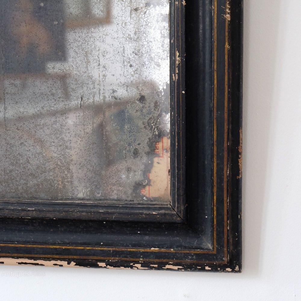 Antiques Atlas – Petite Antique Black Mirror With Regard To Black Antique Mirror (Image 4 of 20)