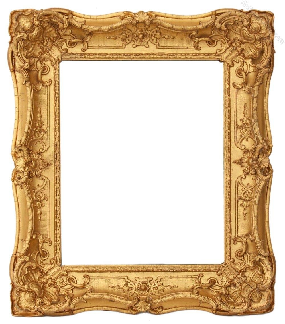 Antiques Atlas – Victorian Gilt Framed Wall Mirror Overmantle With Gilt Edged Mirror (Image 6 of 20)