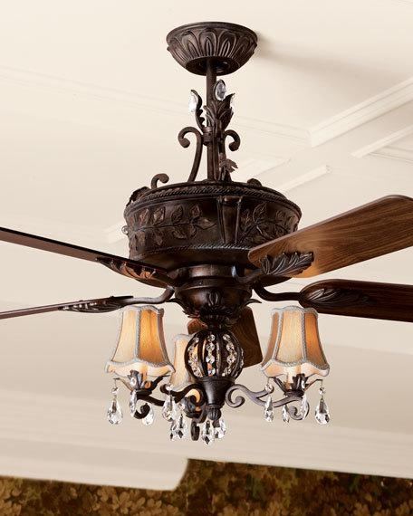 Antoinette Ceiling Fan Light Kit For Chandelier Light Fixture For Ceiling Fan (Image 7 of 25)
