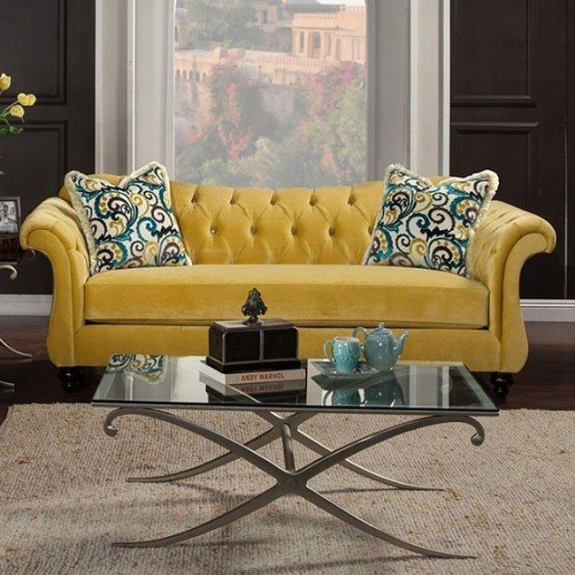 Antoinette Ii Sofa (Royal Yellow) – Sofas – Living Room Furniture With Antoinette Sofas (Image 4 of 20)