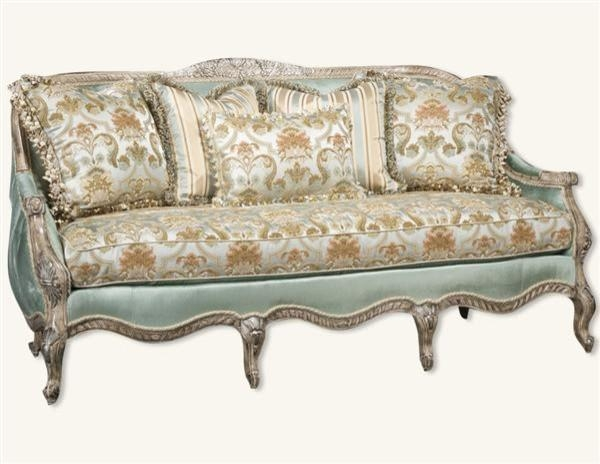 Antoinette Sofa Baxton Studio Antoinette Classic Antiqued French Pertaining To Antoinette Sofas (Image 6 of 20)