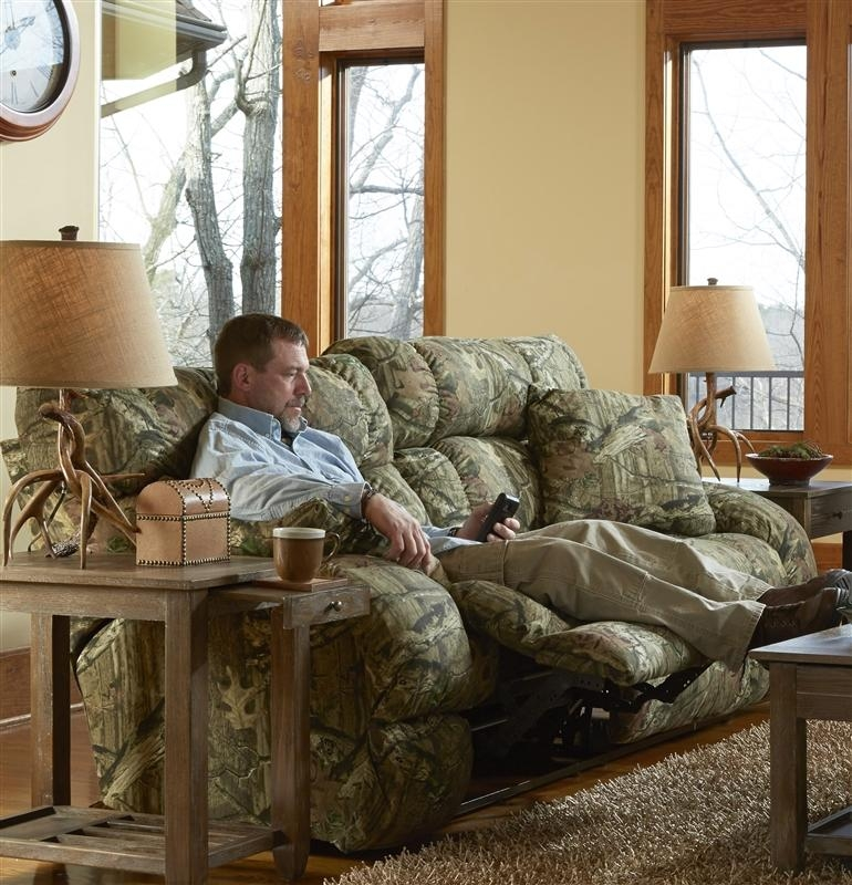 Appalachian 3 Piece Power Reclining Sectional In Mossy Oak Or Intended For Camo Reclining Sofas (View 17 of 20)