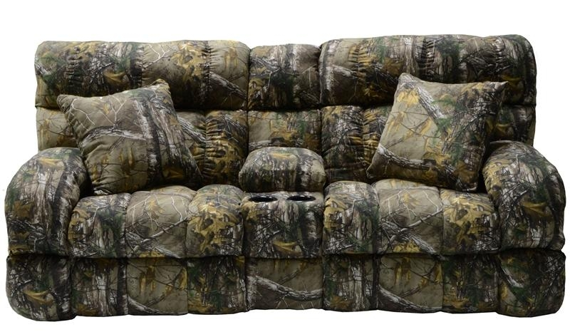 Appalachian 3 Piece Reclining Sectional In Mossy Oak Or Realtree For Camo Reclining Sofas (View 3 of 20)