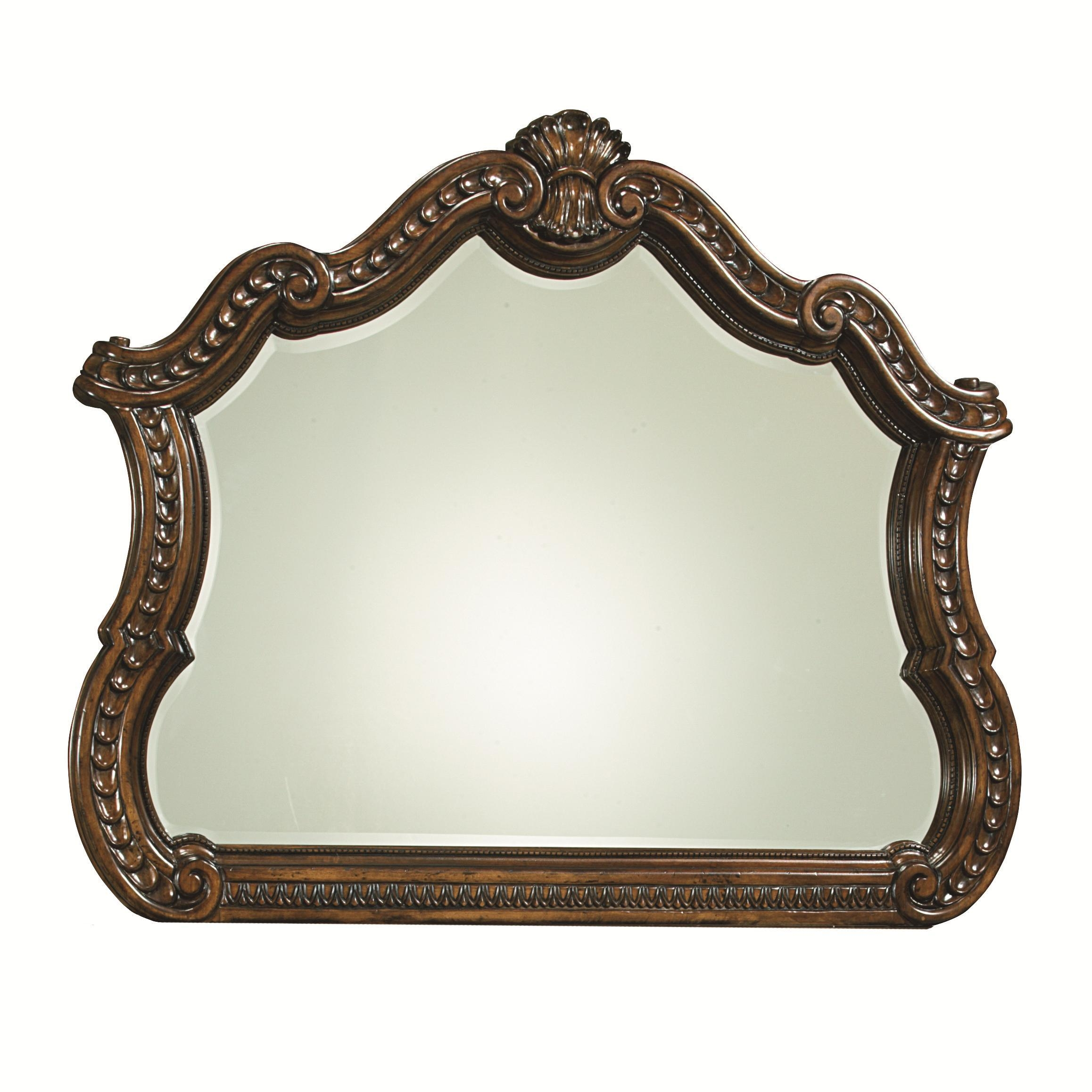 Arched Mirror With Ornamental Carved Detailslegacy Classic With Ornamental Mirror (Image 4 of 20)