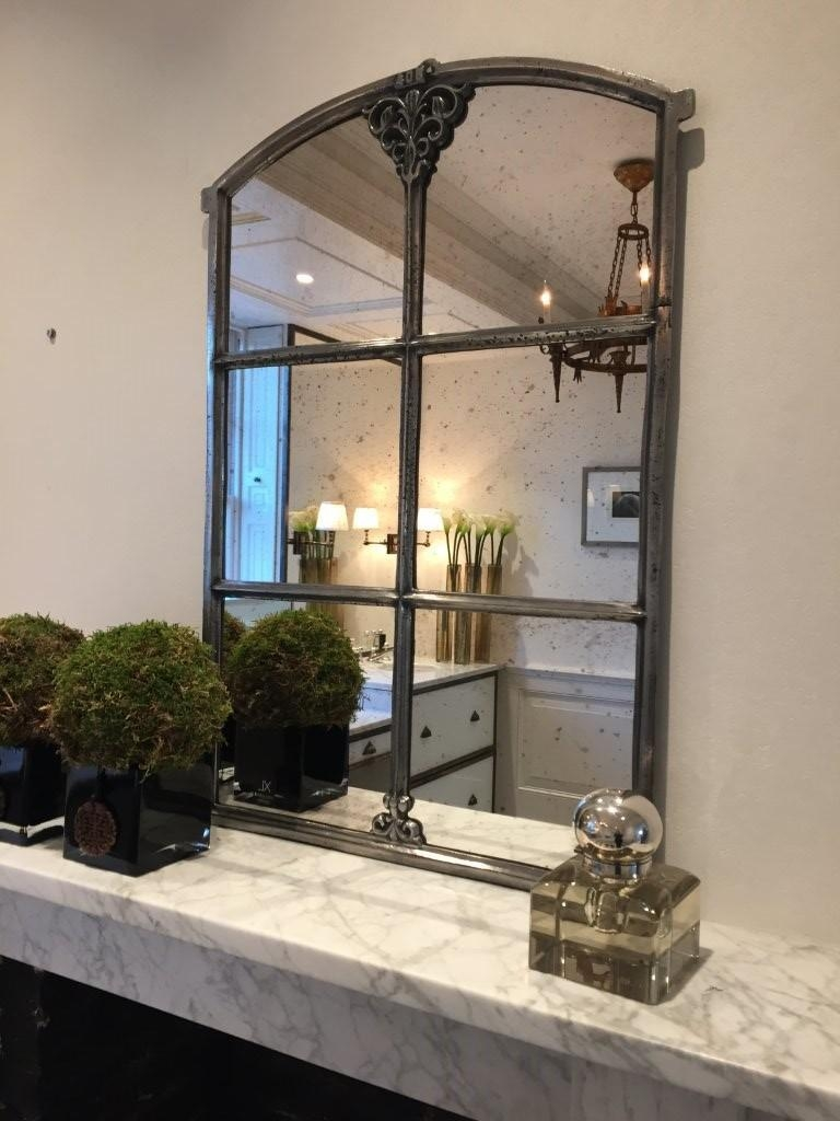 Architectural Window Frame Mirrors For Antique Arched Mirror (Image 11 of 20)