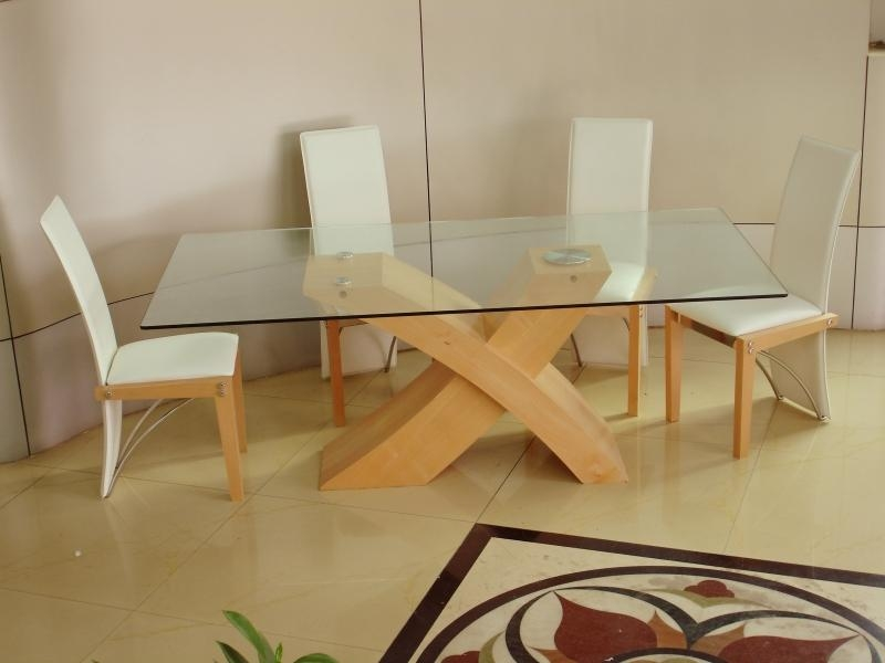 Arizona Beech Dining Set, Arizona Glass Dining Set With Regard To Beech Dining Tables And Chairs (Image 2 of 20)