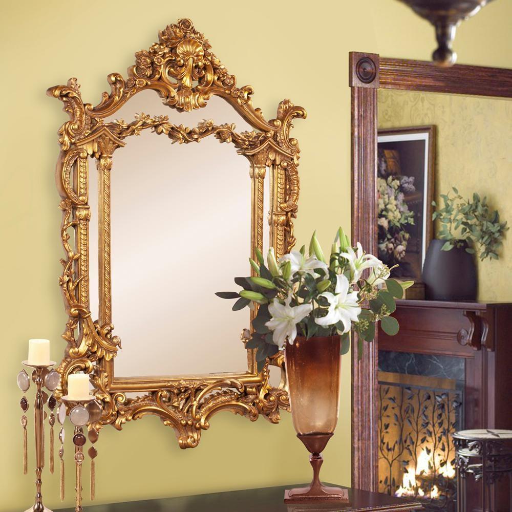 Arlington Gold Baroque Mirror 84001 – The Home Depot Within Gold Baroque Mirror (Image 5 of 20)
