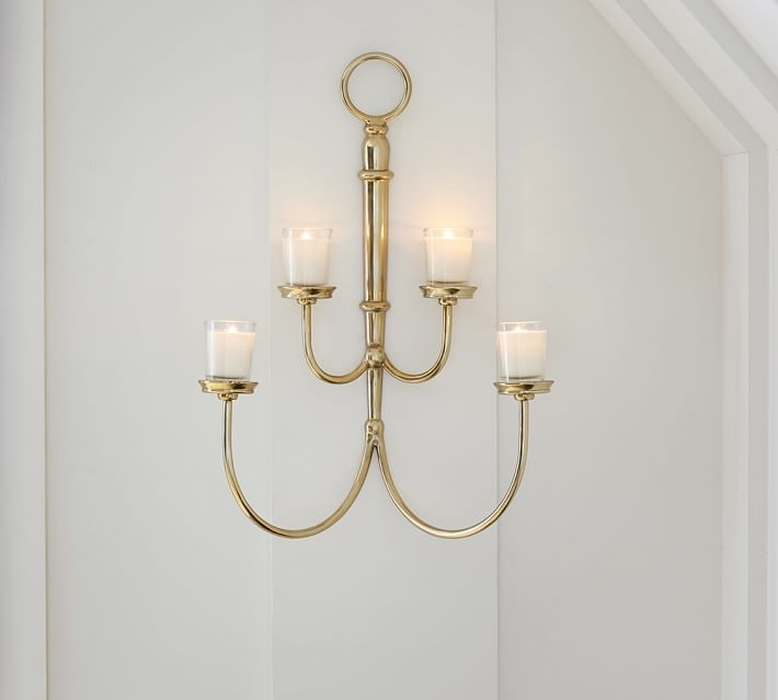 Arlington Wall Mount Votive Holder Pottery Barn Throughout Wall Mounted Candle Chandeliers (Image 12 of 25)