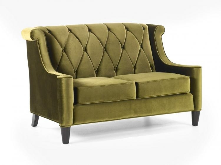 Armen Living Barrister Sofa Green Velvet Al Lc8443Green At Inside Barrister Velvet Sofas (Image 6 of 20)