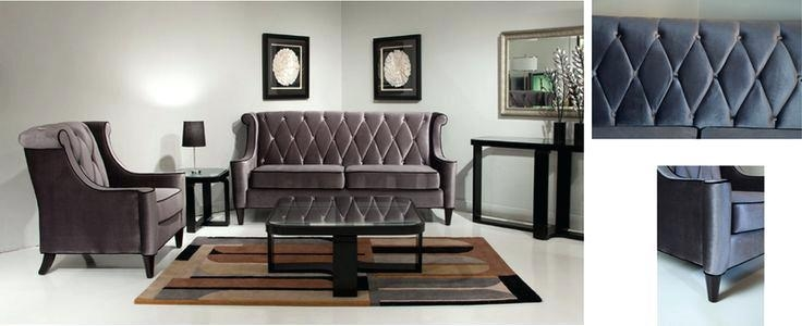 Armen Living Barrister Velvet Chair Armen Living Barrister Sofa Intended For Barrister Velvet Sofas (Image 8 of 20)