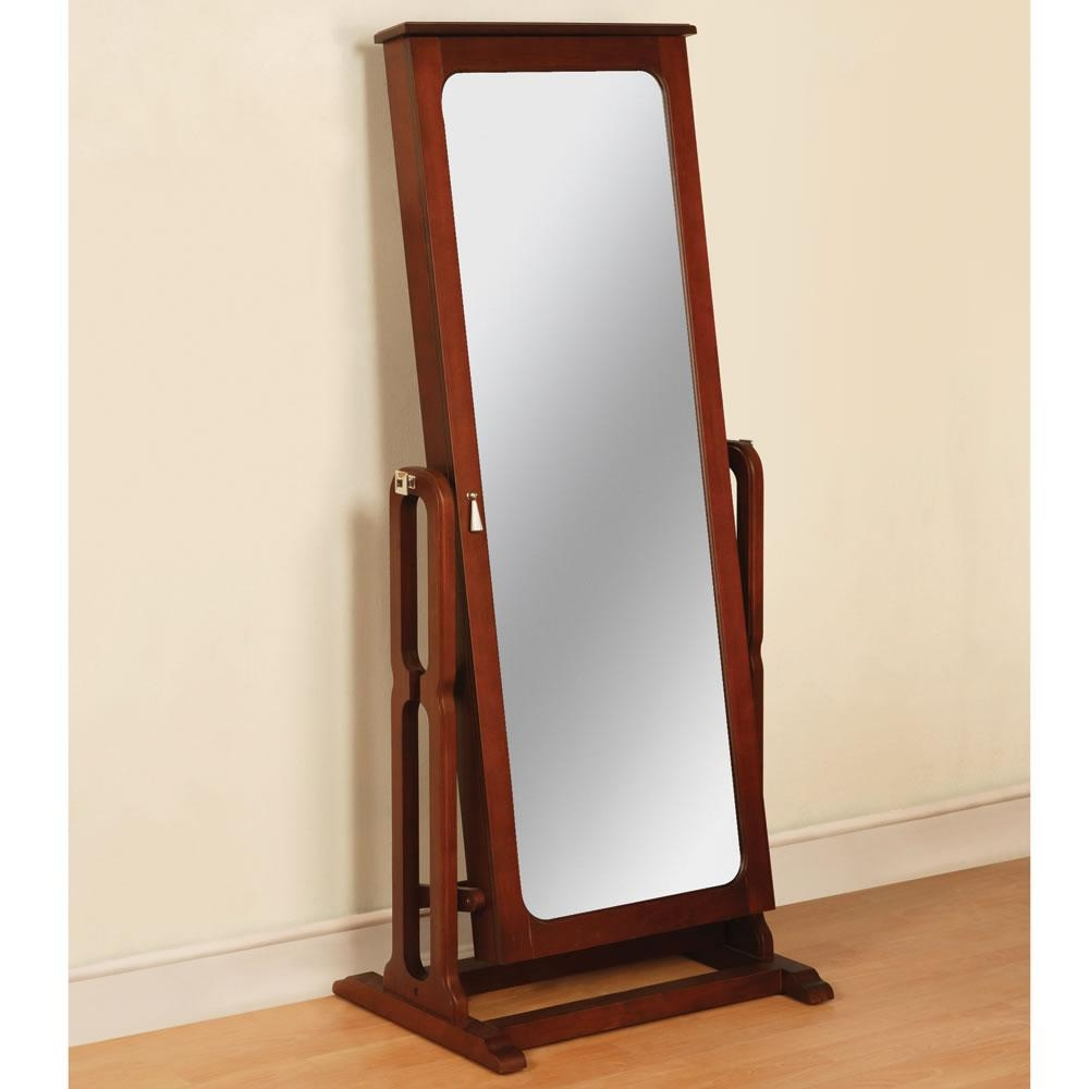 Armoire: Amazing Standing Mirror Jewelry Armoire Design Floor For Free Stand Mirror (Image 1 of 20)