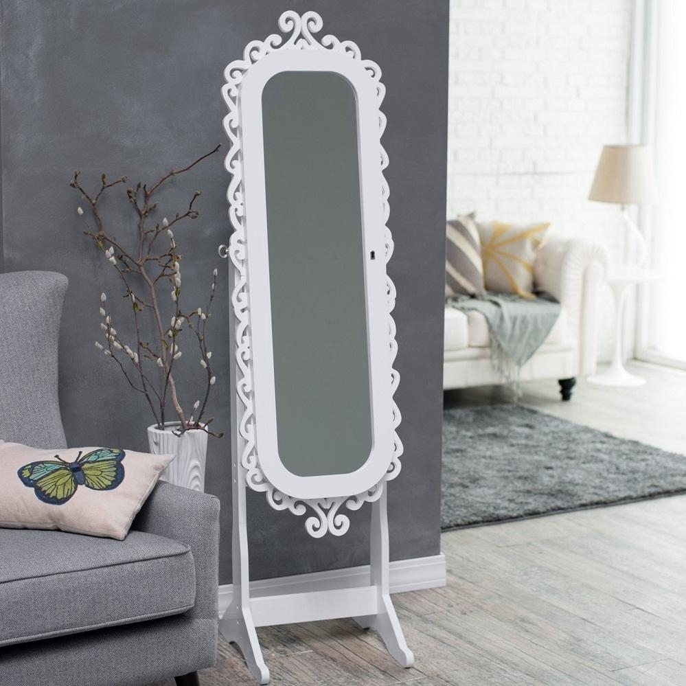 Armoire: Awesome Modern Jewelry Armoire Cheval Mirror Ideas Regarding Modern Cheval Mirror (View 11 of 20)