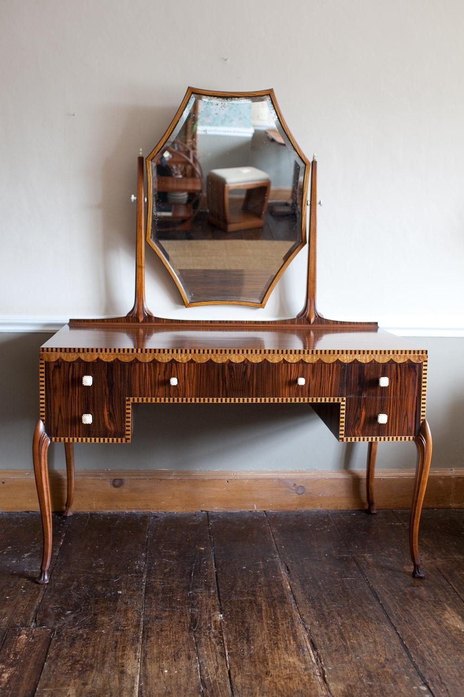 Art Deco Dressing Table – Antiques Atlas Inside Art Nouveau Dressing Table Mirror (Image 4 of 20)