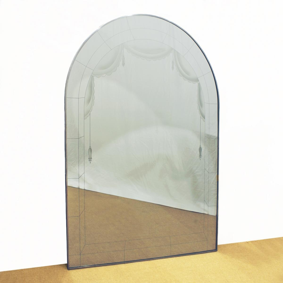 Art Deco Large Mirror, 1930S For Sale At Pamono Throughout Art Deco Large Mirror (View 19 of 20)