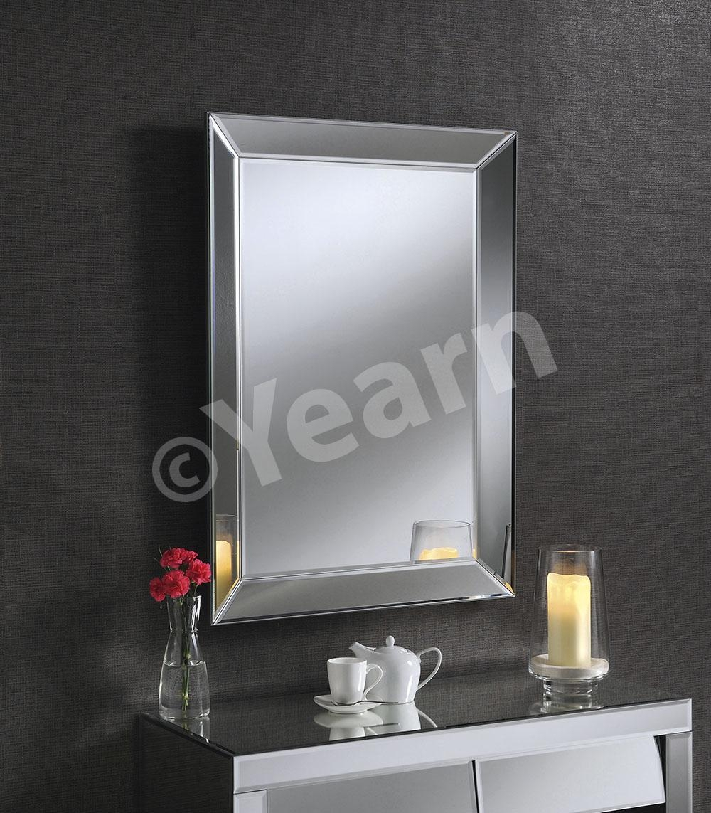 Art Deco Mirror Uk. Black Classic Triple Bar Mirror (Image 3 of 20)