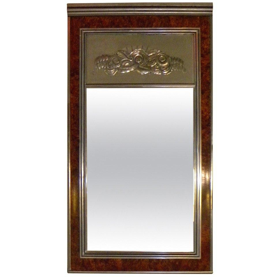 Art Deco Regency Style Large Mirror For Sale At 1Stdibs Within Art Deco Large Mirror (Image 4 of 20)