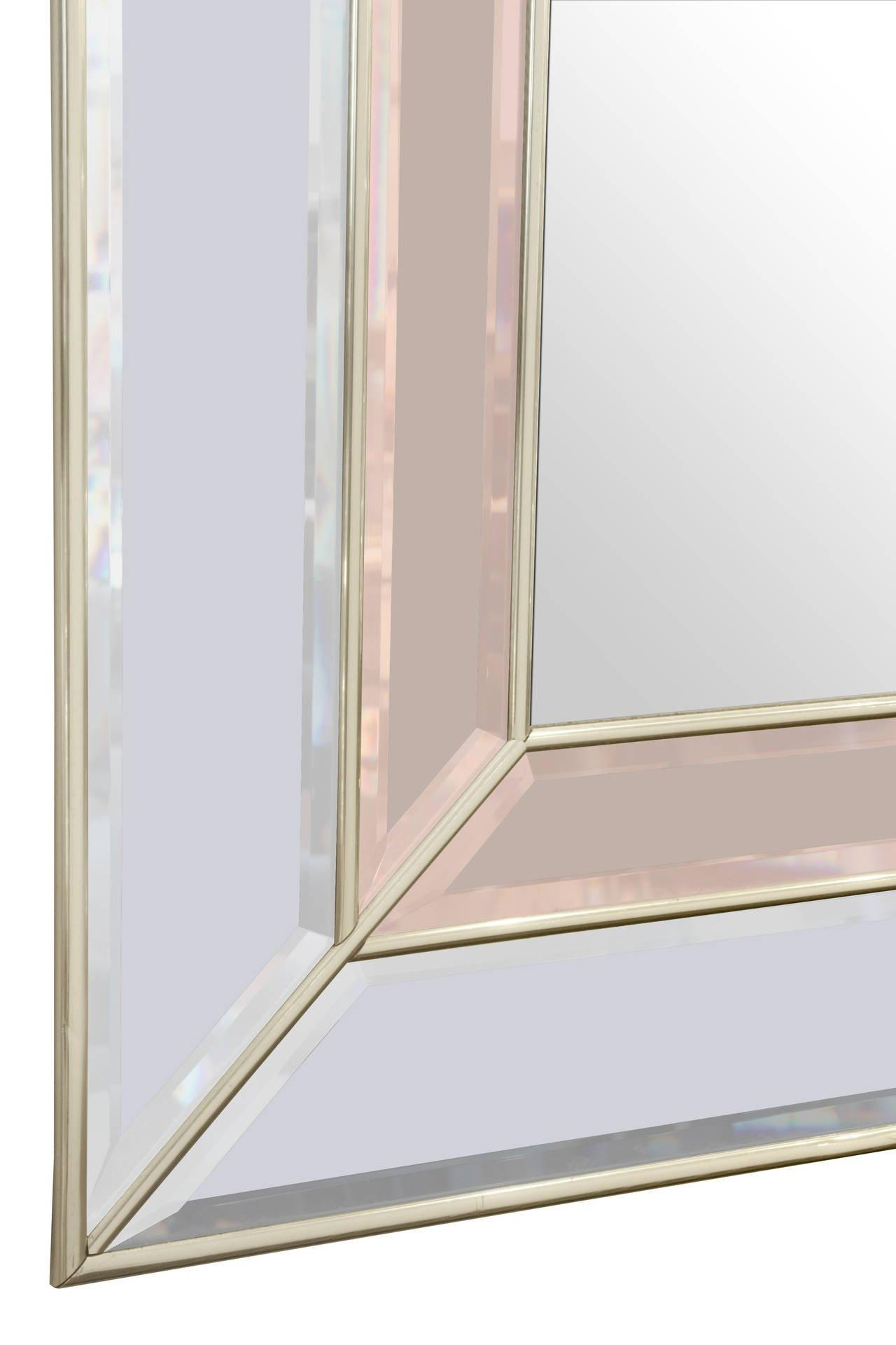 Art Deco Style Mirror With Clear And Champagne Tinted Mirrored Within Art Deco Style Mirrors (Image 8 of 20)