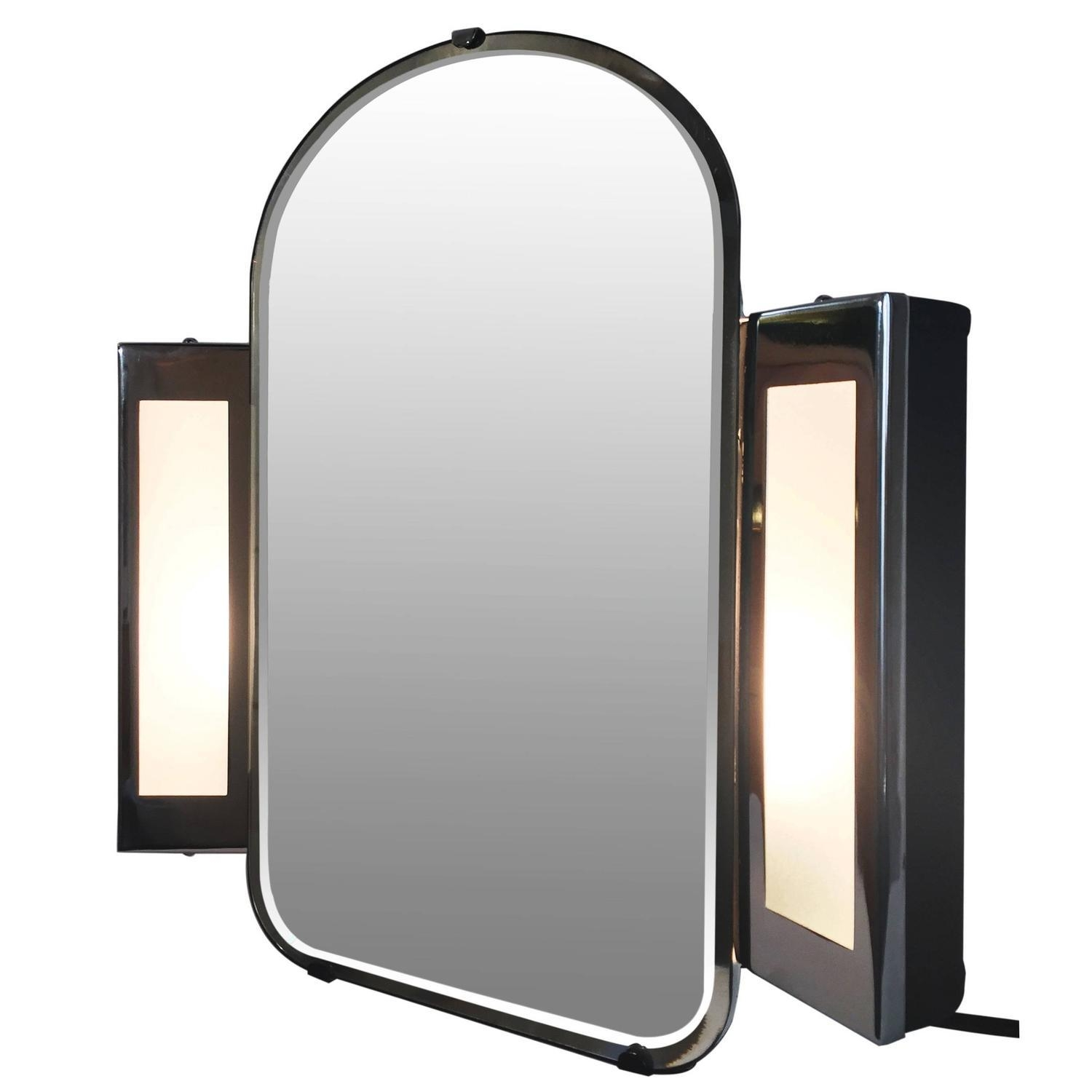 Art Deco Table Mirrors – 49 For Sale At 1Stdibs Within Illuminated Dressing Table Mirror (View 19 of 20)