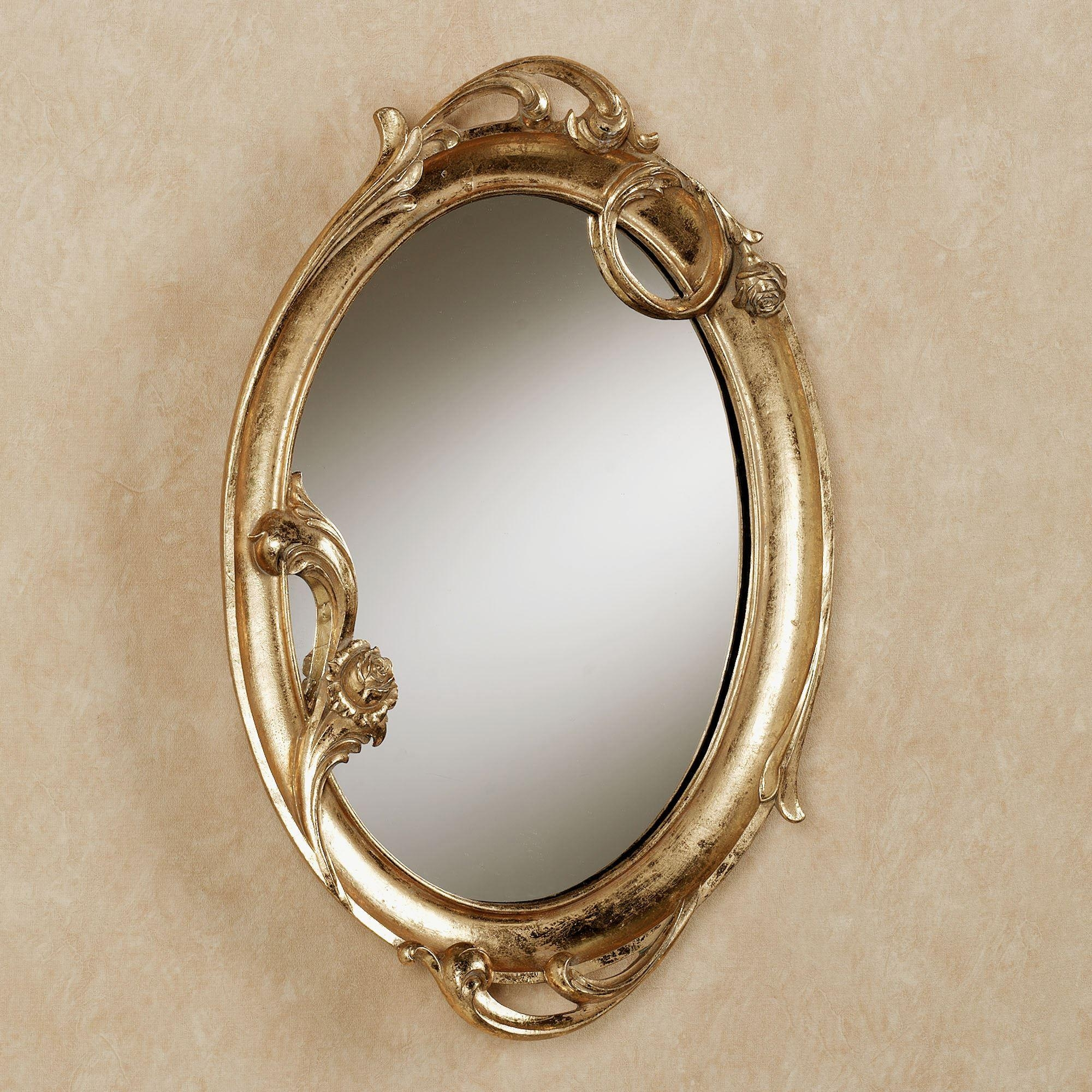 Art Nouveau Gold Oval Wall Mirror With Regard To Art Nouveau Wall Mirror (Image 8 of 20)