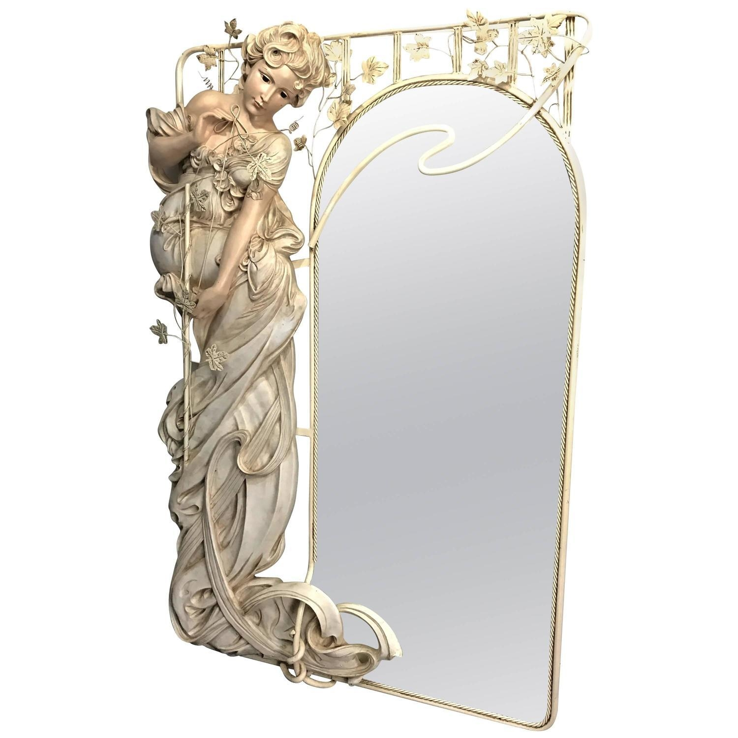 Art Nouveau Mirrors – 87 For Sale At 1Stdibs Throughout Art Nouveau Wall Mirror (Image 9 of 20)