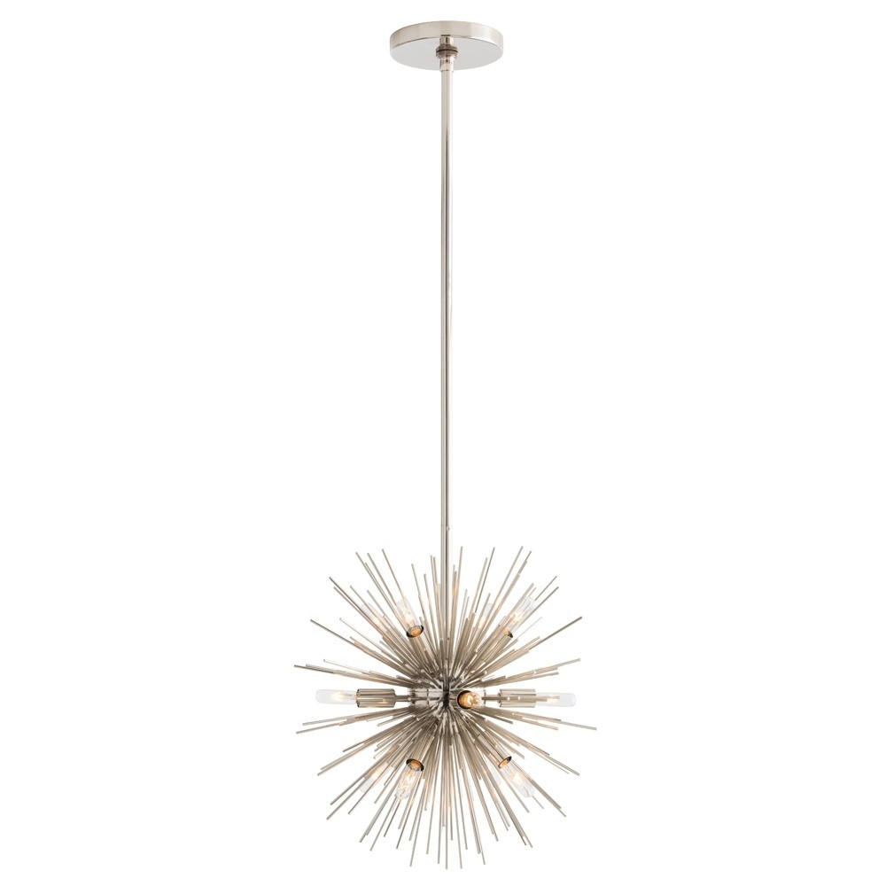 Arteriors Mini Zanadoo Chandelier Nickel Candelabra Inc Intended For Mini Sputnik Chandeliers (Image 2 of 25)