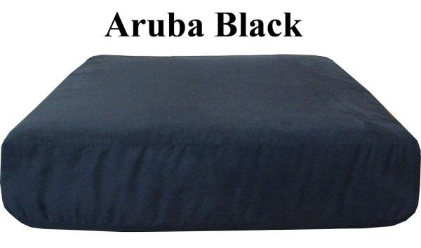 Aruba Black Sofa Or Love Seat Replacement Cushion Cover Pertaining To Sofa Cushion Covers (Image 1 of 20)