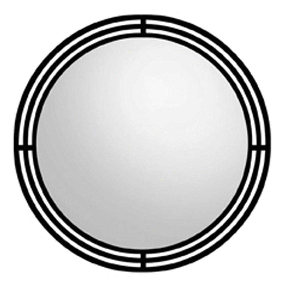 Asana Round Wrougth Iron Framed Wall Mirror Mr708 | Native Trails For Rod Iron Mirrors (Image 5 of 20)
