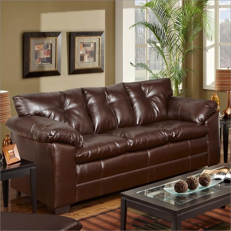 Ashley Franden Durablend Gorgeous Bonded Leather Sofa – Home For Bonded Leather Sofas (View 5 of 20)
