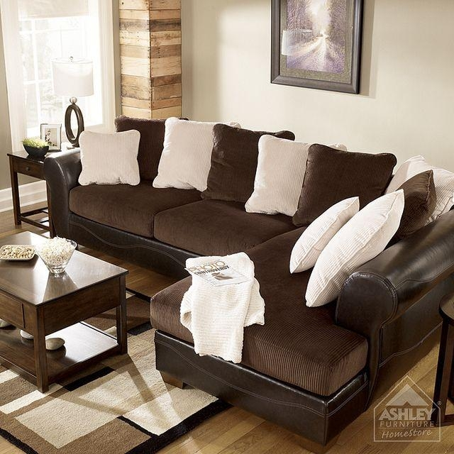 Ashley Furniture Homestore – Victory – Chocolate Sectional Intended For Ashley Furniture Brown Corduroy Sectional Sofas (Image 5 of 20)