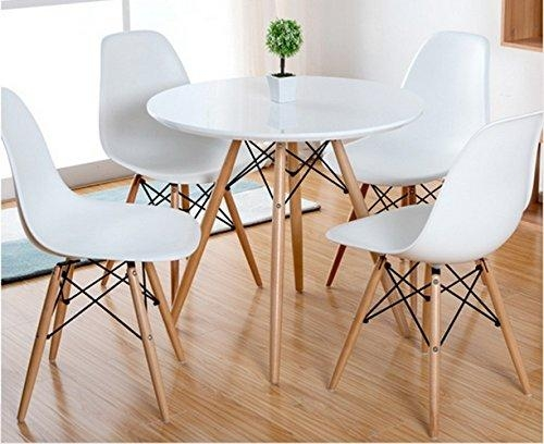 Aspect Como Round Dining Table With Beech Wood Legs, Wood, White Throughout Como Dining Tables (Image 5 of 20)