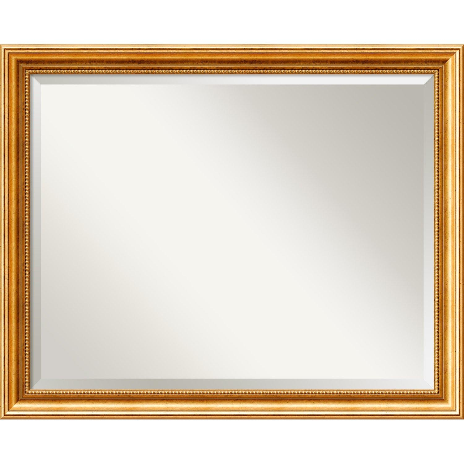 Astoria Grand Hendry Gold Wall Mirror & Reviews | Wayfair In Gold Wall Mirrors (Image 1 of 20)