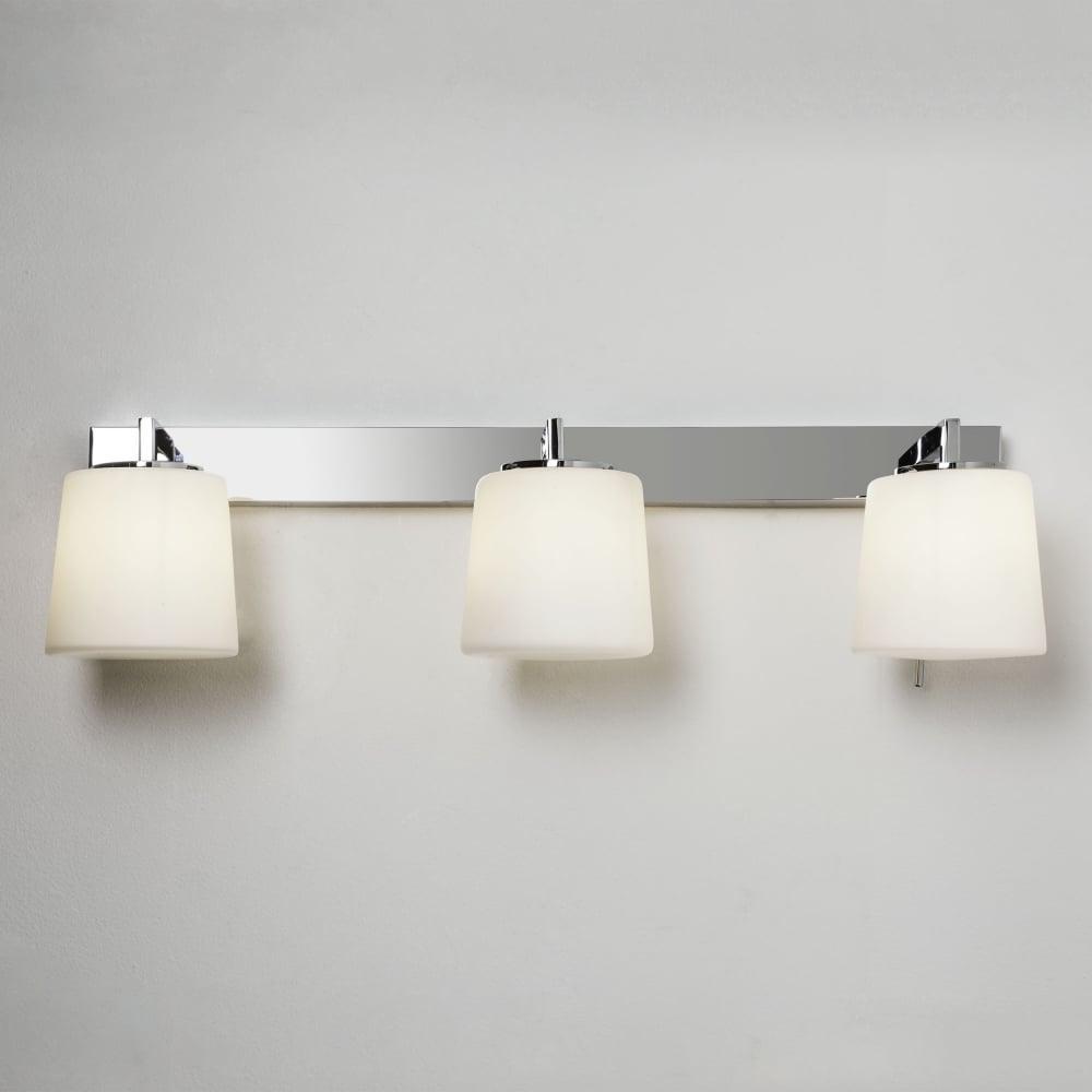 Astro Lighting 7093 Triplex Ip44 Chrome Bathroom Mirror Wall Light Intended For Mirror Wall Light (Image 1 of 20)