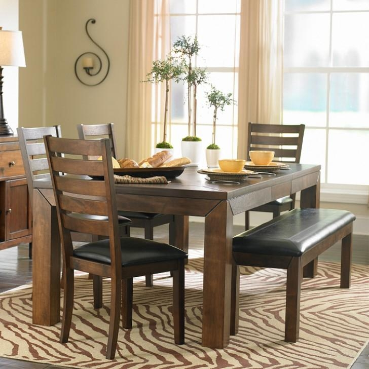 Attractive Dining Room Table With Chairs And Bench 26 Big Small In Small Dining Tables And Bench Sets (Image 4 of 20)