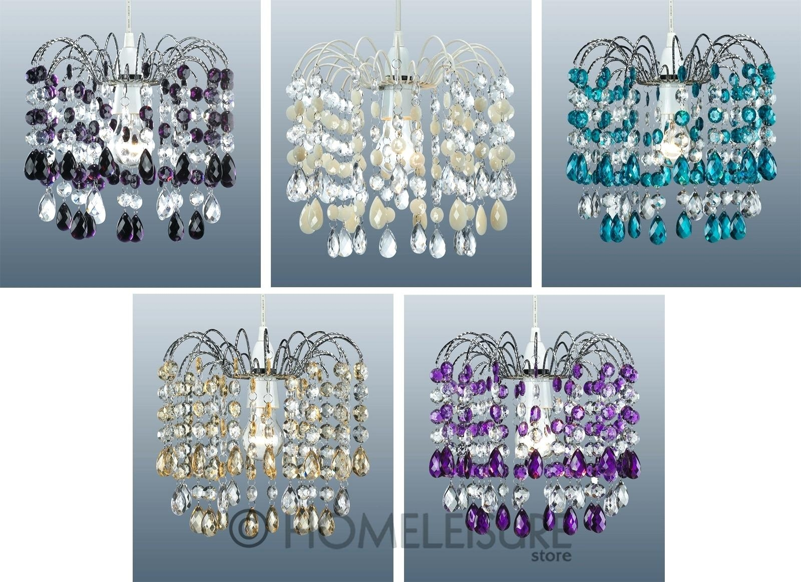 Austrian Crystal Chandelier Cascade 32 Acrylic Crystal Droplet Intended For Purple Crystal Chandelier Lights (Image 5 of 25)