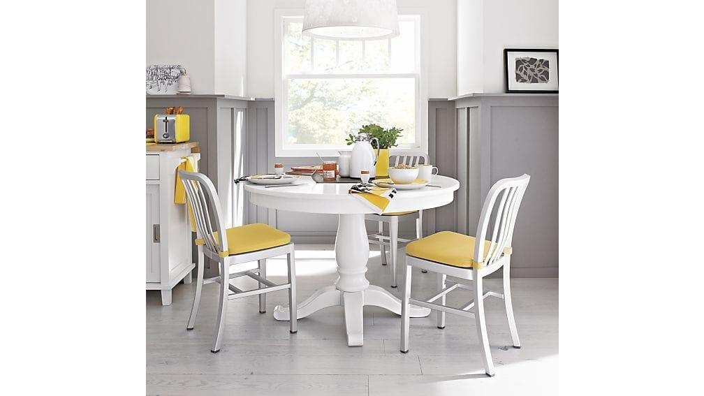 "Avalon 45"" White Extension Dining Table 