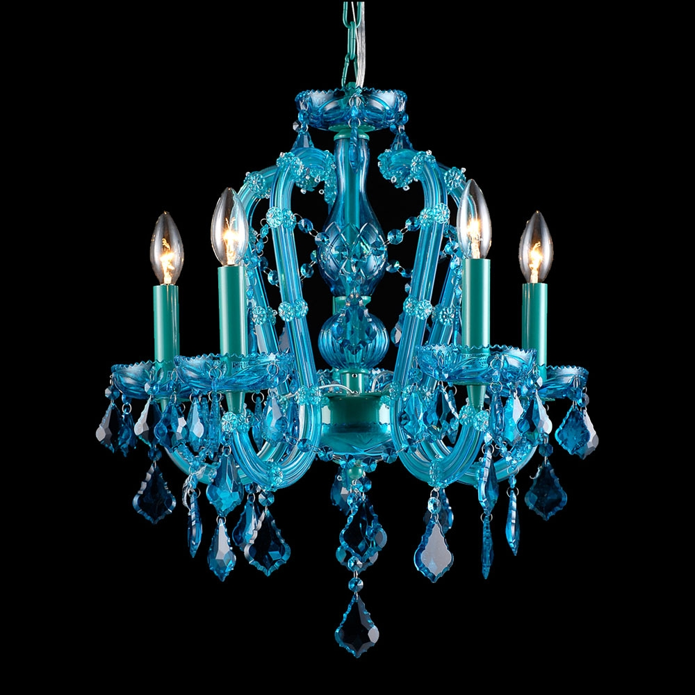 Avenue Lighting Hf1037 Blu Ocean Dr Crystal Aqua Blue Finish 22 Pertaining To Turquoise Mini Chandeliers (Image 8 of 25)
