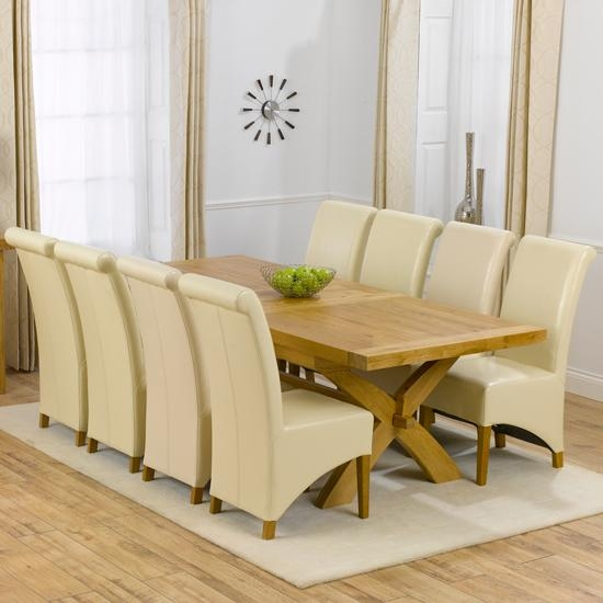 Avignon Solid Oak Extending Dining Table And 8 Barcelona With Extendable Dining Tables With 8 Seats (Image 3 of 20)