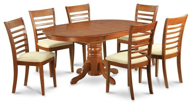 Avml Sbr Kitchen Table Set – Transitional – Dining Sets – Intended For Dining Table Sets (View 5 of 20)