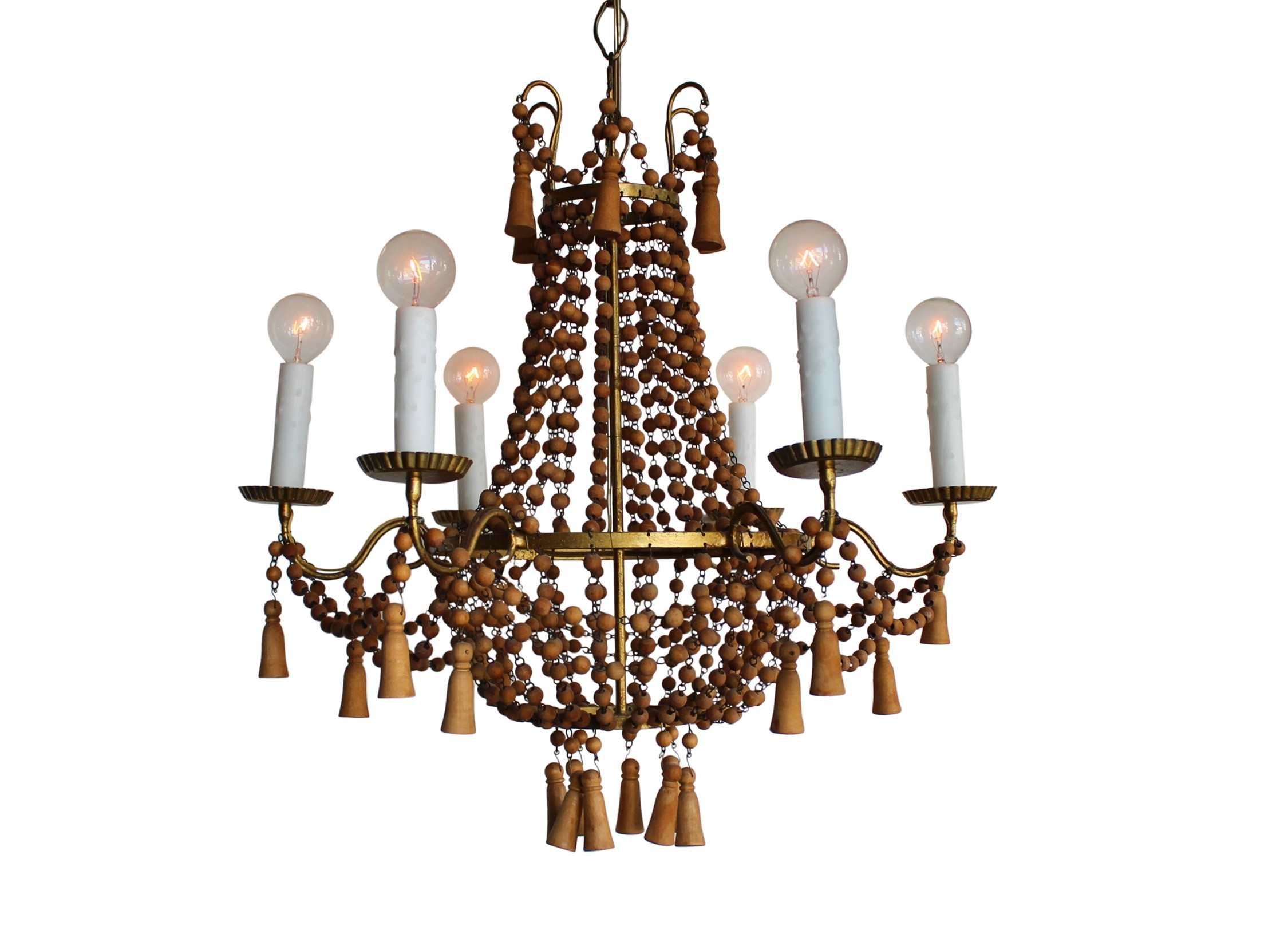 Top 25 Turquoise Wood Bead Chandeliers