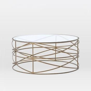 Awesome Best Antique Brass Glass Coffee Tables Throughout Round Brass Frame Glass Coffee Table (Image 5 of 50)