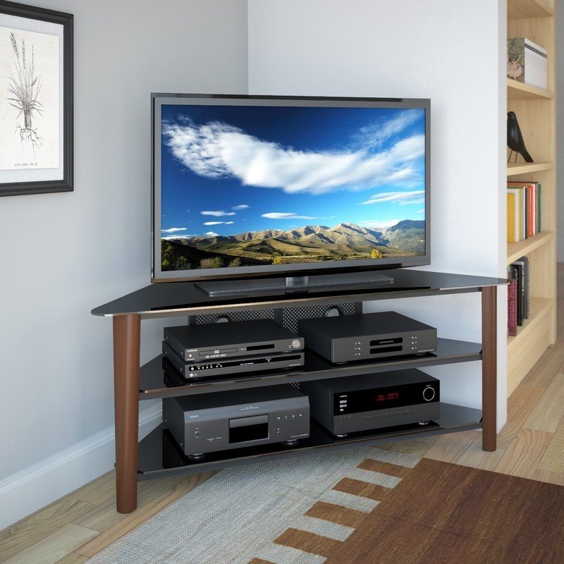 Awesome Best Corner TV Stands For 60 Inch TV Throughout Dcor Design Alturas Corner 60 Tv Stand Reviews Wayfair (Photo 19 of 50)