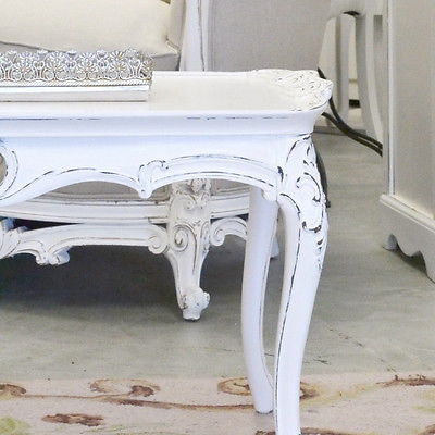 Awesome Best French White Coffee Tables Intended For Shab Cottage Chic White Coffee Table Vintage French Style (Image 7 of 50)