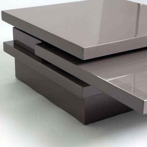 Awesome Best Gloss Coffee Tables Regarding Keena Functional Swivel Top High Gloss Coffee Table Grey (Image 6 of 50)