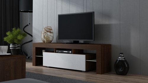 Awesome Best Milano TV Stands With Tv Stand Milano Wenge 160 Mat 2 Colours To Choose Pejot Meble (Image 5 of 50)