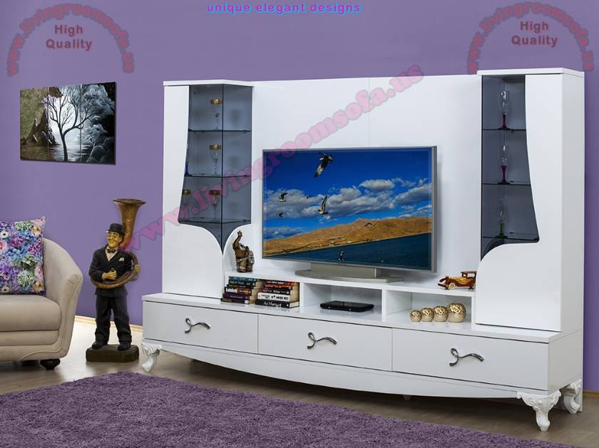 Awesome Best Modern TV Cabinets For Flat Screens Within Modern Tv Stand White Tv Cabinet Flat Screen Tv Stands Interior (Image 7 of 50)
