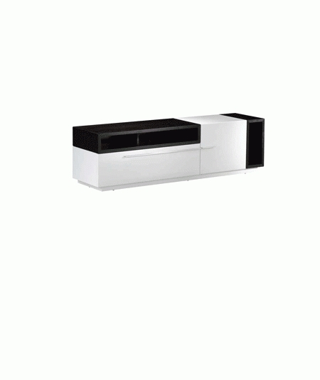 Awesome Best Modern White Lacquer TV Stands Throughout White Lacquer Finish Modern Tv Stand Tv (Image 4 of 50)