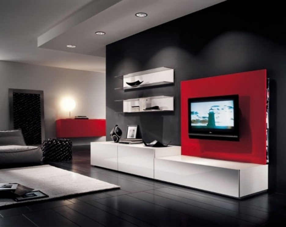 Awesome Best Red TV Cabinets For Living Room Bedroom Tv Stand Hidden Tv Stand For Bedroom Hide (Image 8 of 50)